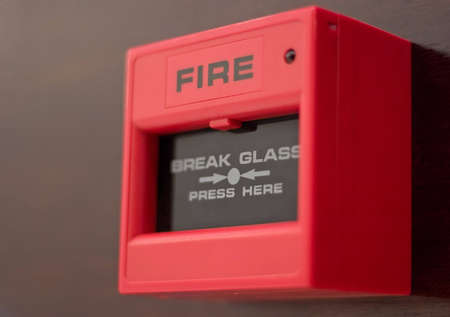 Red fire alarm box  photo