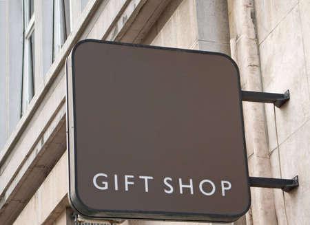 shop sign: Gift shop sign