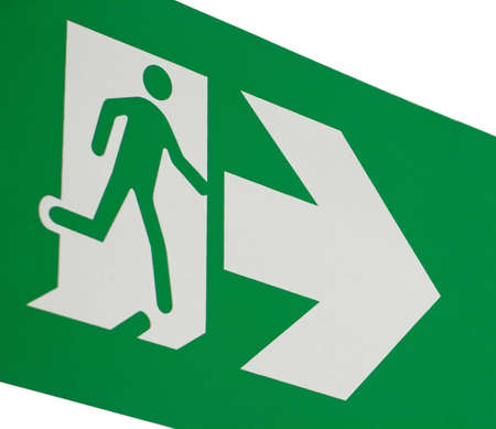 firealarm: Emergency exit sign Stock Photo