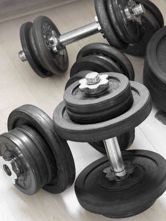 body toning: Many different size weights