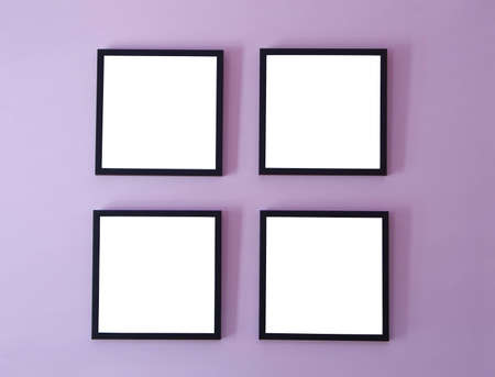 photo gallery: Four frames on wall Stock Photo