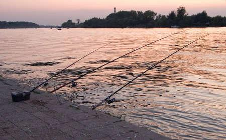 fishingline: Three fishing rods