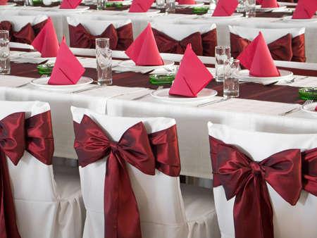 wedding guest: Wedding table Stock Photo