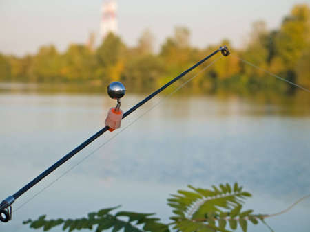 Fishing rod with signal bell photo