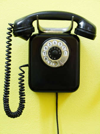 rotary phone: Old vintage phone Stock Photo