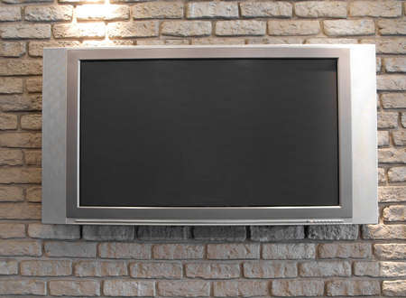 big screen tv: Plasma TV Stock Photo