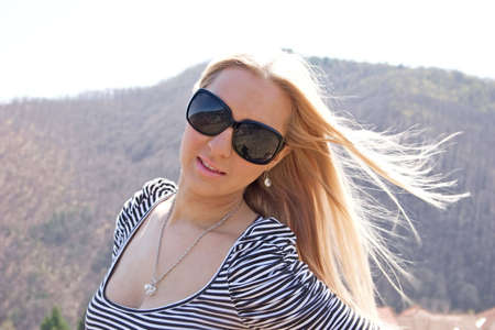 Blond girl photo