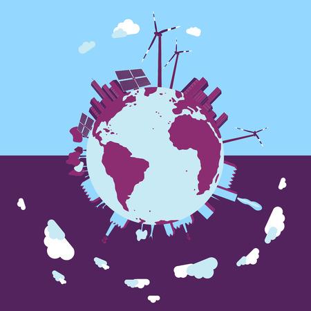 smart thinking: Concept of green energy. Illustration