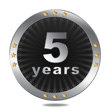 5 years: 5 years button  Anniversary