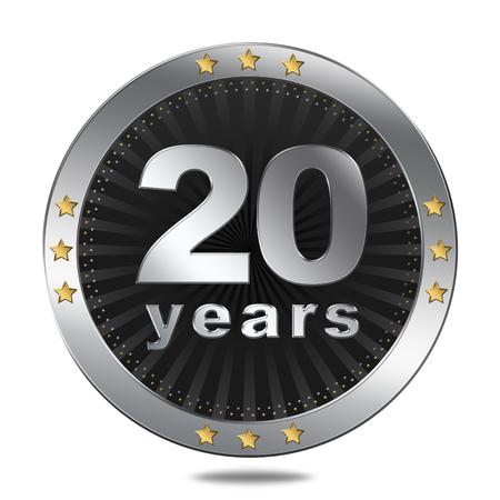 20 years button  Anniversary Imagens