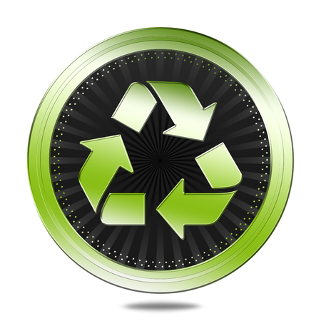 wildlife reserve: Recycling symbol Stock Photo