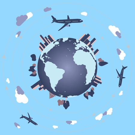 World travel / business travel / plane travel