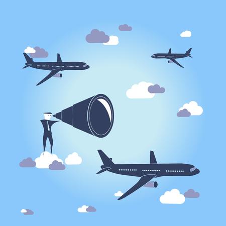 World travel / Search destination Vettoriali