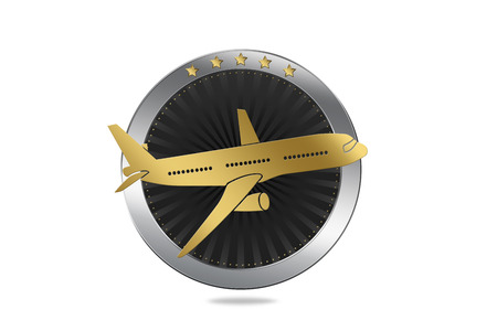 Travel / Airline symbol. Symbol of traveling (with plane). Archivio Fotografico
