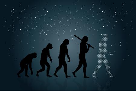 人類の進化  イラスト・ベクター素材