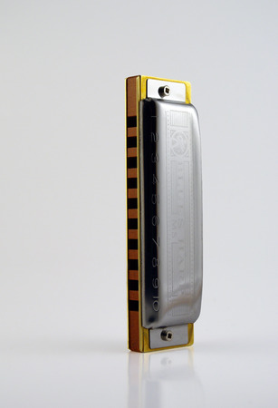 Blues harmonica, key of C Banco de Imagens