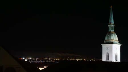 Apollo bridge and smoke from Slovnaft rafinery