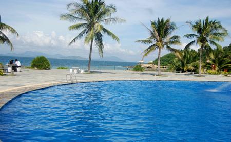 Yalong Bay beach, Hainan, Sanya Editorial