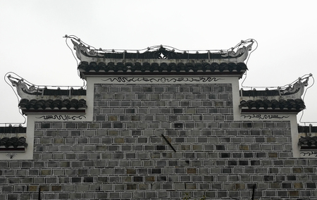 Ancient architecture wall