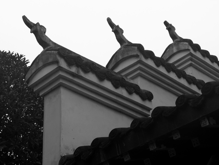 Ancient architecture eaves