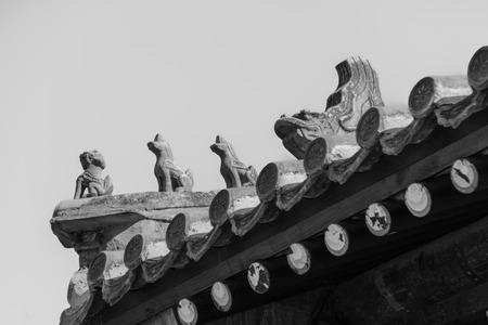 Ancient architecture close up