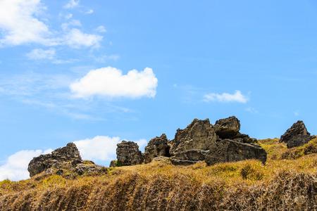 rock under the blue sky 版權商用圖片