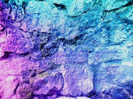 colored stone wall
