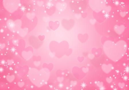 Cuori rosa su uno sfondo rosa. Sfondo di San Valentino.