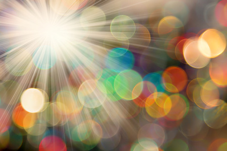 ligh: Abstract photo of backlight reflector and glitter bokeh ligh