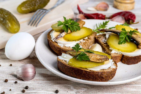 Image with sandwiches. Stock Photo