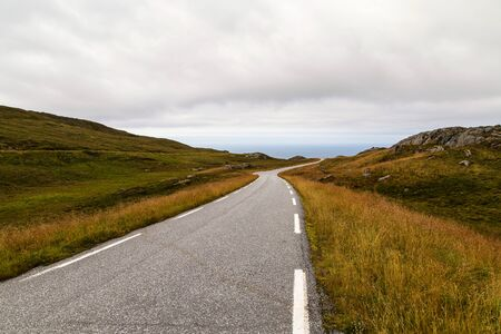 Road leading to the edge of the earth in Norway.