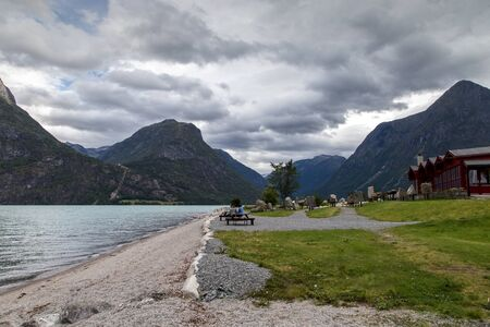 Scenic view of the fjord of Norway.