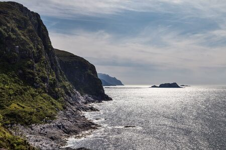 Scenic view of the fjord and atlantic ocean in Norway. Stockfoto