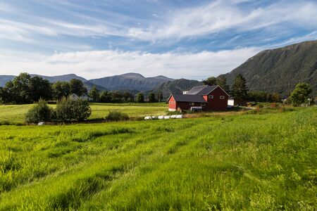 Scenic view of a village in Norway.
