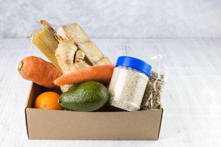 Image with food delivery. Zdjęcie Seryjne