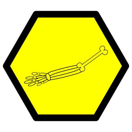 Sign or illustration for hand bone Ilustração