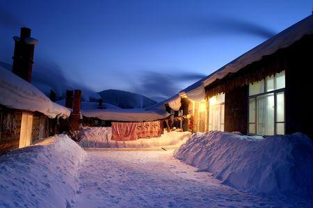 Snow village photo