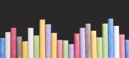Stack of colored chalk