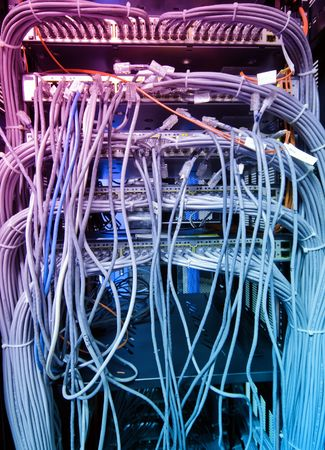The network cable in the service room photo