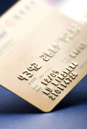 Macro shoot of a Gold credit card. Perfect for background use Stock Photo - 6822586