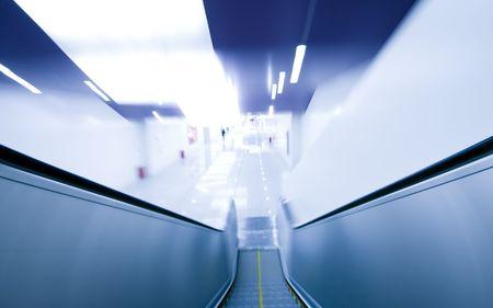 abstract image a escalator photo