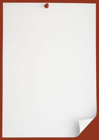 Pushpin pinned single blank note paper photo