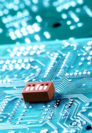 Macro of computer board, technology background Stock Photo - 6904237