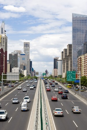 traffic through downtown Beijing Reklamní fotografie