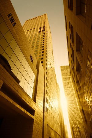 megapolis: High modern buildings Stock Photo