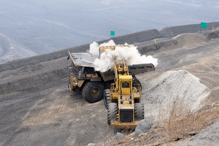 mining truck: Opencast mine in Shanxi Province, China Stock Photo