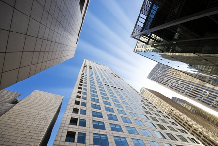 commercial property: High modern buildings Stock Photo