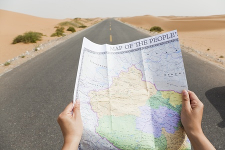 vacation map: navigating the roads