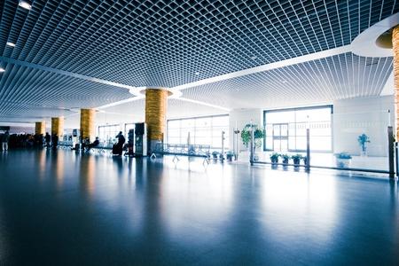 interior of the modern architectural in shanghai airport Redakční
