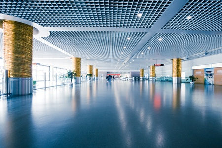 interior of the modern architectural in shanghai airport Editorial